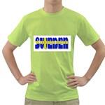 Flag Spells Sweden Men s T-shirt (Green)