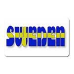 Flag Spells Sweden Magnet (Rectangular)
