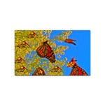 Butterfly on the Wing Sticker (Rectangular)