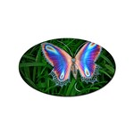 Butterfly on the Wing Sticker Oval (100 pack)