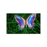 Butterfly on the Wing Sticker Rectangular (100 pack)