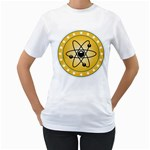 Atom Symbol Women s Two-sided T-shirt (White)