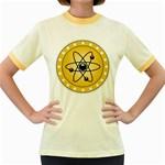 Atom Symbol Women s Ringer T-shirt (Colored)