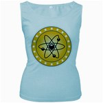 Atom Symbol Women s Tank Top (Baby Blue)