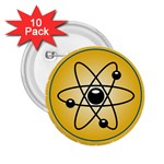 Atom Symbol 2.25  Button (10 pack)