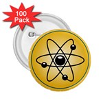 Atom Symbol 2.25  Button (100 pack)