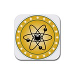 Atom Symbol Drink Coasters 4 Pack (Square)