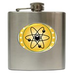 Atom Symbol Hip Flask