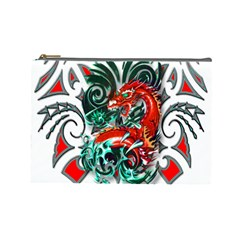Tribal Dragon Cosmetic Bag (large) by TheWowFactor
