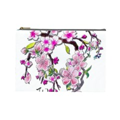 Cherry Bloom Spring Cosmetic Bag (large) by TheWowFactor