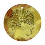 Brain Map Round Ornament