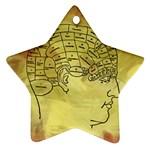 Brain Map Star Ornament