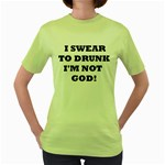 GOD Women s Green T-Shirt