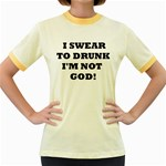 GOD Women s Fitted Ringer T-Shirt