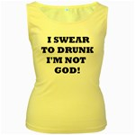 GOD Women s Yellow Tank Top