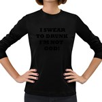 GOD Women s Long Sleeve Dark T-Shirt