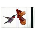 Rainbow Hummingbird Apple iPad 2 Flip Case