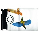 Blue Winged Hummingbird Apple iPad 2 Flip 360 Case