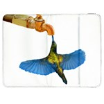 Blue Winged Hummingbird Samsung Galaxy Tab 7  P1000 Flip Case