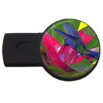 1hummingbird Flower 615 USB Flash Drive Round (4 GB)