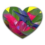 1hummingbird Flower 615 Mousepad (Heart)