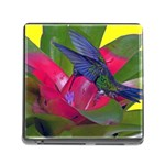 1hummingbird Flower 615 Memory Card Reader with Storage (Square)