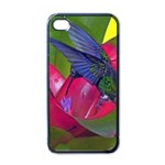 1hummingbird Flower 615 Apple iPhone 4 Case (Black)