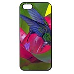 1hummingbird Flower 615 Apple iPhone 5 Seamless Case (Black)