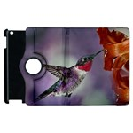 Red Throated Hummingbird Apple iPad 2 Flip 360 Case