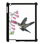 Hummingbird in Watercolor 615 Apple iPad 3/4 Case (Black)