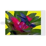 1hummingbird Flower 615 Apple iPad 3/4 Woven Pattern Leather Folio Case