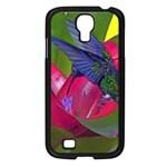 1hummingbird Flower 615 Samsung Galaxy S4 I9500/ I9505 Case (Black)