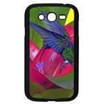 1hummingbird Flower 615 Samsung Galaxy Grand DUOS I9082 Case (Black)