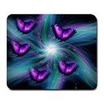 Indigo Butterfles Against A Starlite Night Large Mousepad