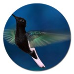Hummingbird in Flight Magnet 5  (Round)