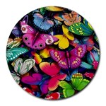 Rainbow of Butterflies Round Mousepad