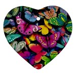 Rainbow of Butterflies Ornament (Heart)