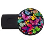 Rainbow of Butterflies USB Flash Drive Round (2 GB)