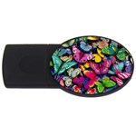 Rainbow of Butterflies USB Flash Drive Oval (2 GB)