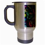 Rainbow of Butterflies Travel Mug (Silver Gray)
