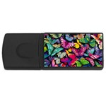 Rainbow of Butterflies USB Flash Drive Rectangular (4 GB)