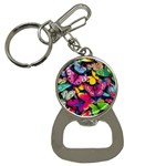 Rainbow of Butterflies Bottle Opener Key Chain