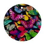 Rainbow of Butterflies Round Ornament (Two Sides)
