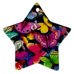 Rainbow of Butterflies Star Ornament (Two Sides)