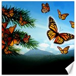 Monarchs in Flight Canvas 16  x 16
