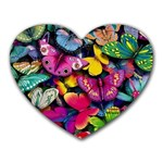 Rainbow of Butterflies Mousepad (Heart)