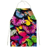 Rainbow of Butterflies Full Print Apron