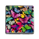 Rainbow of Butterflies Memory Card Reader with Storage (Square)