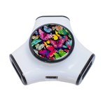 Rainbow of Butterflies 3-Port USB Hub