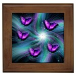 Purple Butterflies in Flight Framed Tile